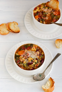 Homemade-Minestrone-Soup-{Slow-Cooker}-8 | by littlespicejar