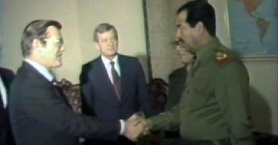 Image result for rumsfeld and saddam hussein