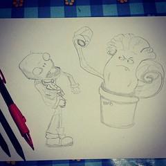 Plantes Vs Zombies Disegno Art Draw Sketch Illustrati Flickr