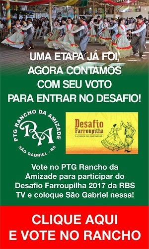 PTG Rancho da Amizade no Desafio Farroupilha - banner voto