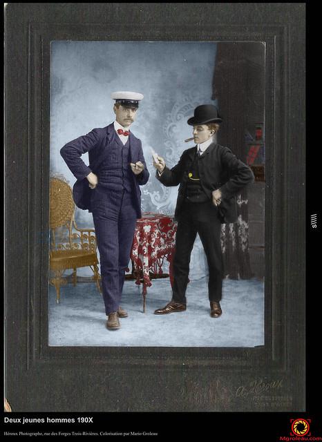 Deux jeunes hommes 190X