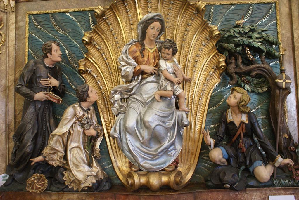 Retable destinée à une église de Wroclaw dans le musée d'histoire de la ville.