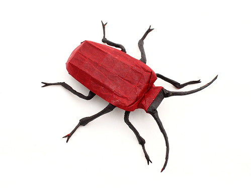 Lily beetle 2.0 designed and folded by Damian Malicki | by Damian Malicki Origami
