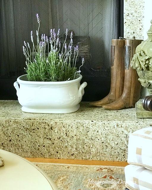 Lavender-Ironstone Foot Bath-Housepitality Designs