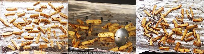 How to make Baked sweet potato fries recipe - Step5