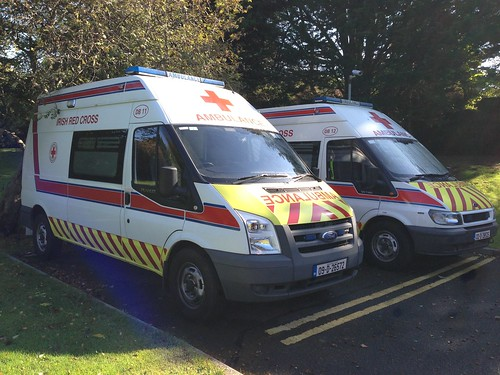 Ford Transit Ambulance Vehicle - Irish Red Cross, Dublin. | by firehouse.ie