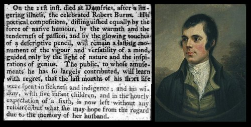 21st July 1796 - Death of Robert Burns | by Bradford Timeline