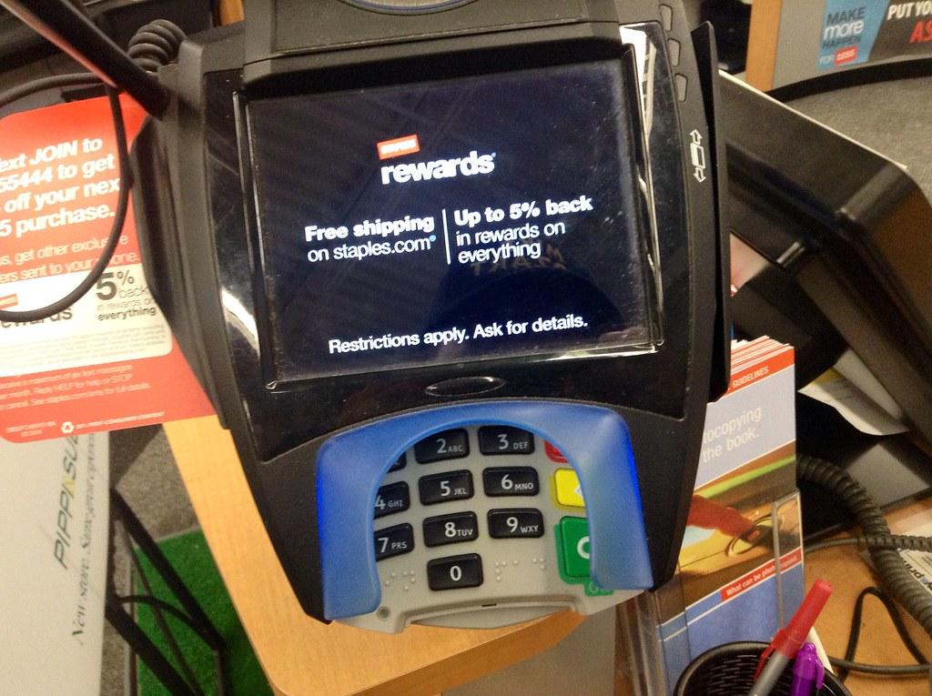staples credit card login