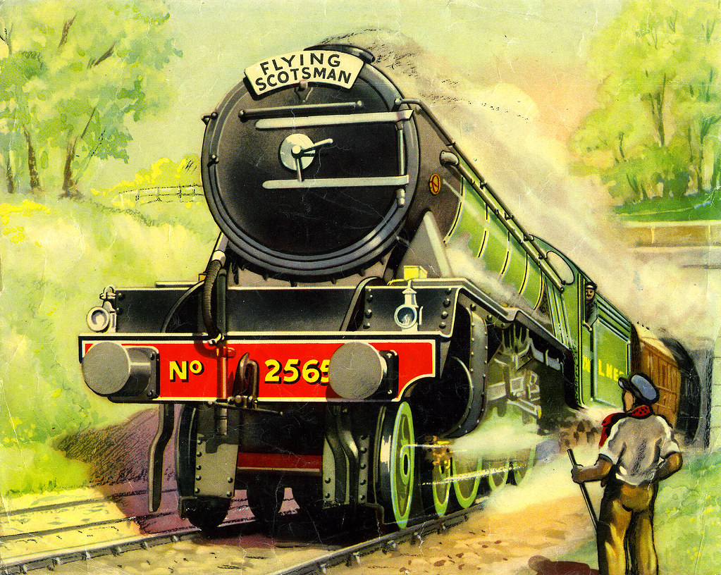 "... Flying Scotsman hauled by LNER Locomotive 2565 ""Merry Hampton"" 