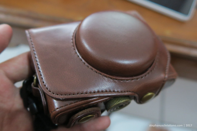 Leather Case Canon G7X - Front