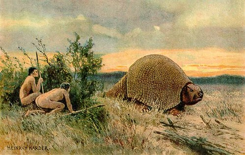 Glyptodon_old_drawing__Heinrich_Harder_2015_12_30_15_31_01