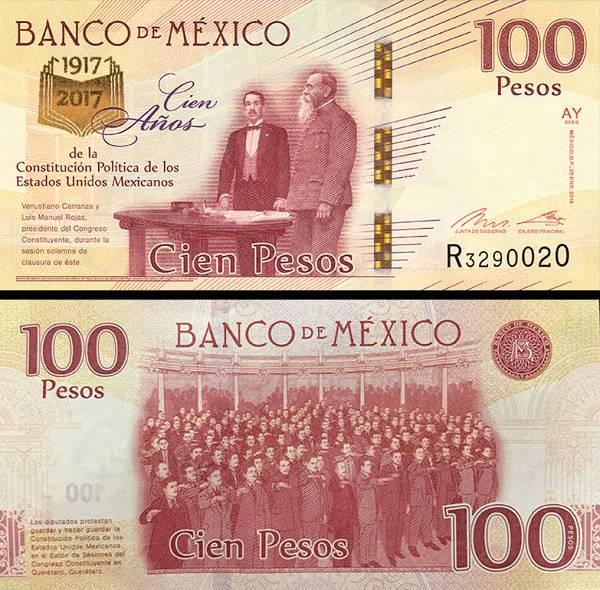 100 Pesos Mexiko 2016, P130