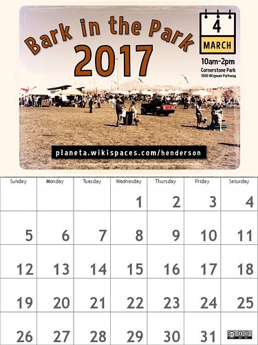 March 2017 Calendar (Bark in the Park)