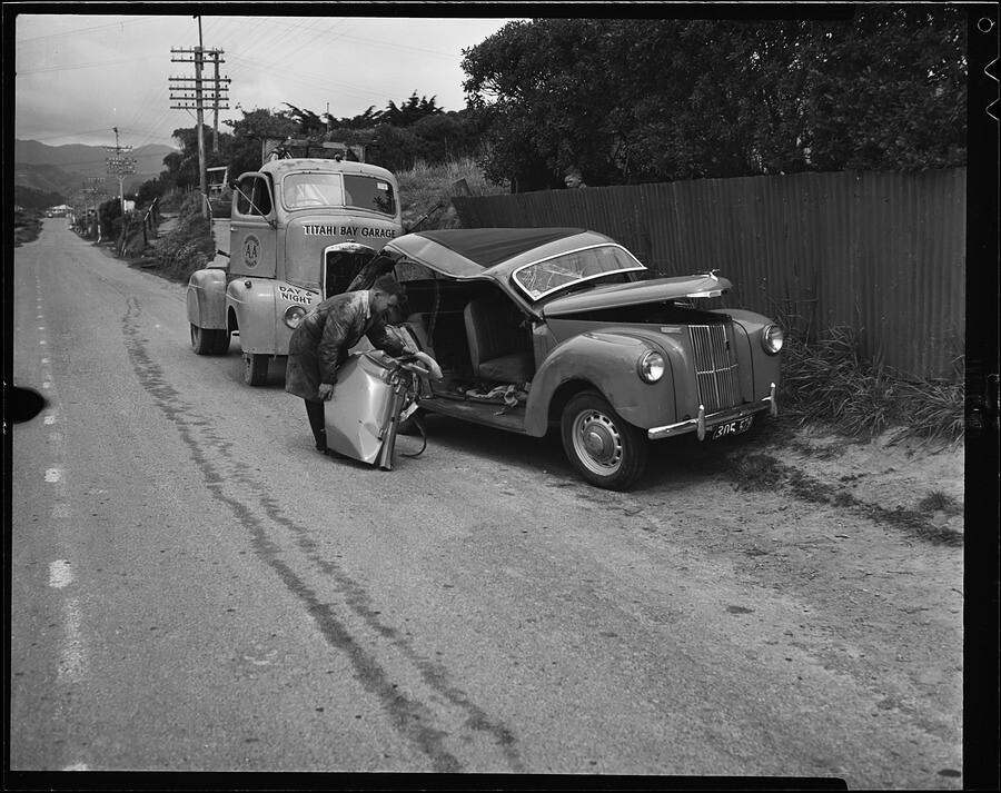Crashed Ford Prefect against fence registration 305.579 wi…   Flickr