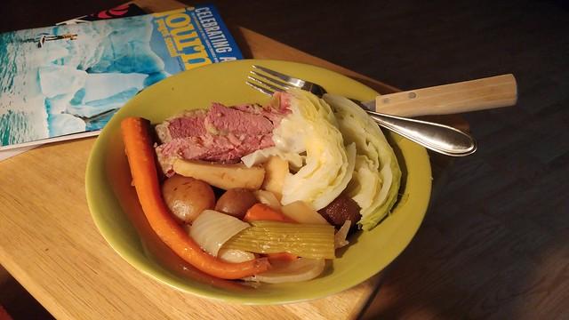 Garrett's corned beef and cabbage!