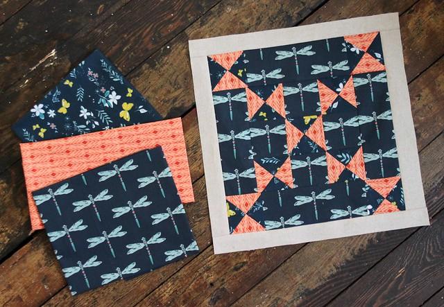 Butterfly Crossing SBS Block & Fabrics