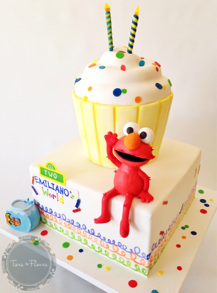 Elmo birthday cake for this weekend So happy how this des Flickr