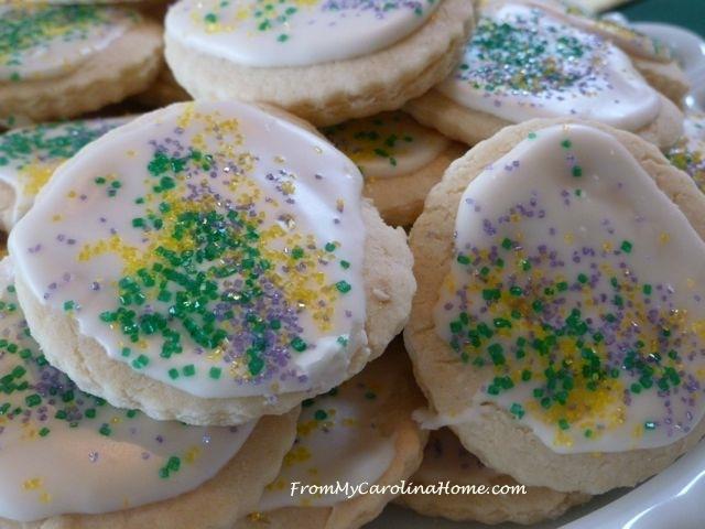 Mardi Gras Vanilla Sugar Cookies 11