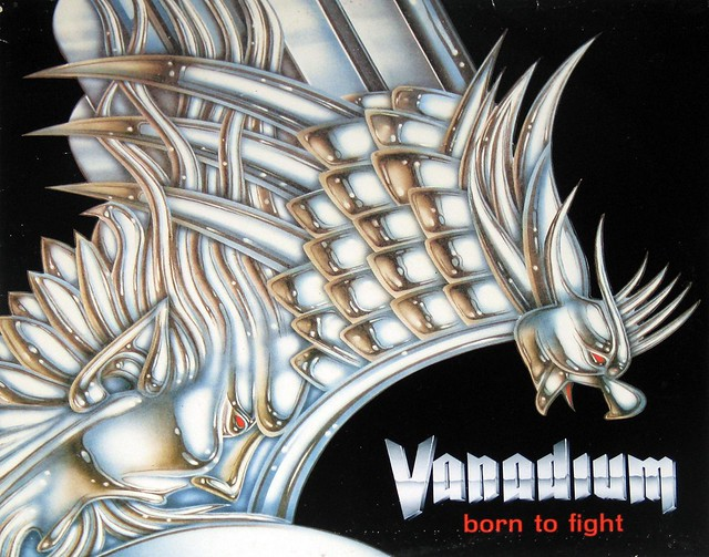 "Vanadium Born to Fight orig Italian pressing 12"" vinyl LP"