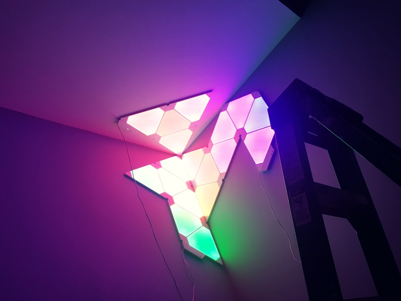 Nanoleaf Aurora lights