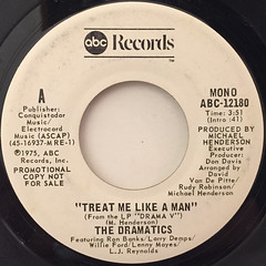 THE DRAMATICS:TREAT ME LIKE A MAN(LABEL SIDE-A)