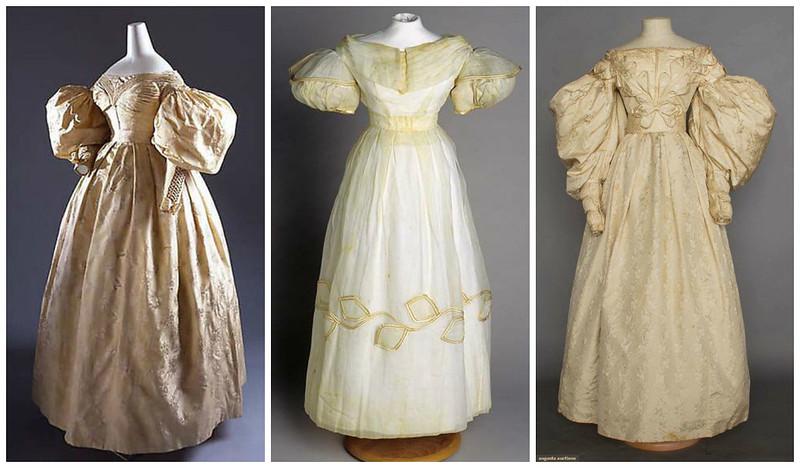 Свадебные платья 1830е