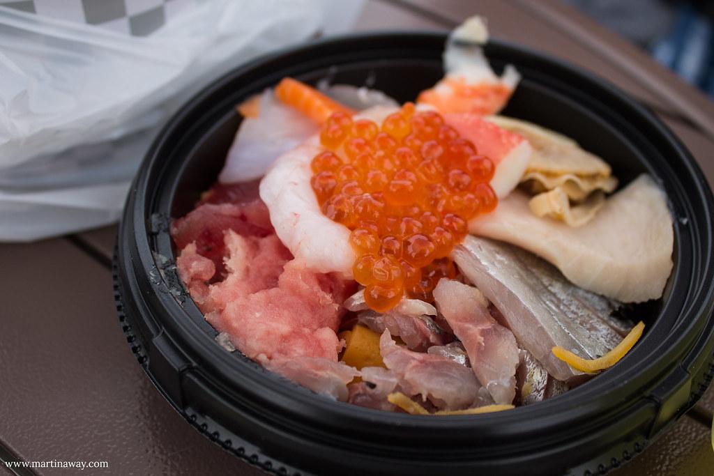 Food at Tsukiji Market