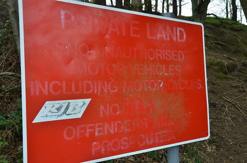 Marley Hill no motorbikes sign Apr 17