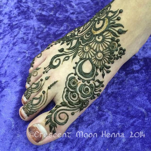 A Quick Khaleeji Henna Foot For Noam Kendra Williams Flickr