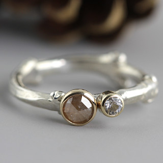 Dual Stone Twig Ring | by Sarah Hood Jewelry