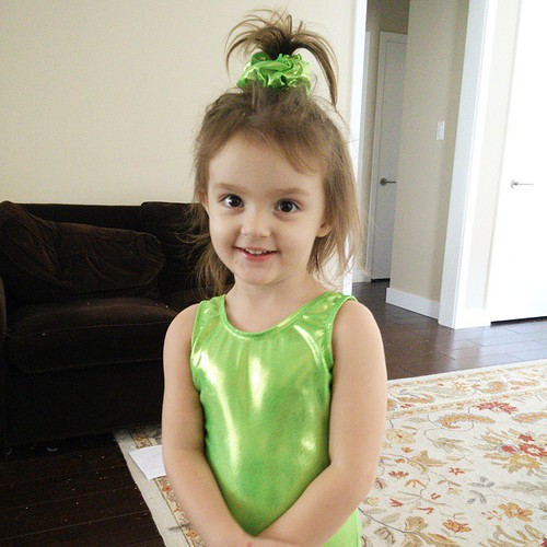 The little girls are sooo excited about starting #gymnastics classes. It's all they've been able to talk about for weeks!  Little sister wanted a green leotard so she could look like Ariel. :-) #lifewithatwoyearold | by Urthmama