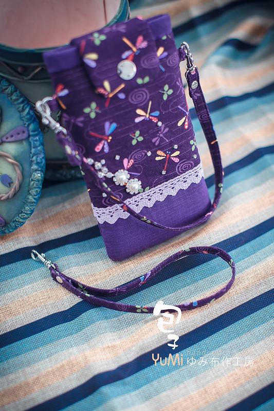 紫色蜻蜓i7手機袋 (11)