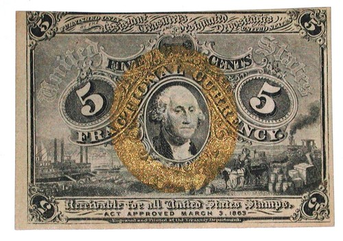 Second Issue Five Cent Fractional Note
