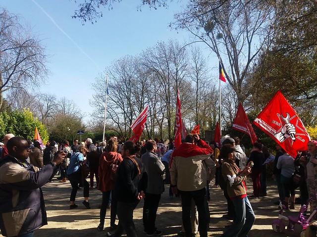 Manifestation contre le centre fermé de Vottem - 2017