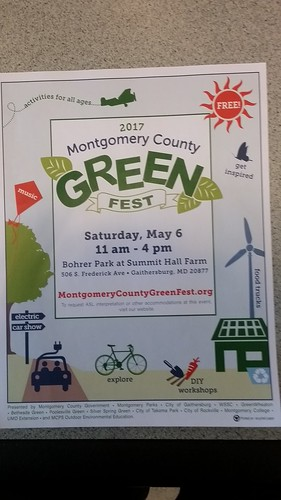 Flyer for the Montgomery County Green Fest, Saturday May 6th