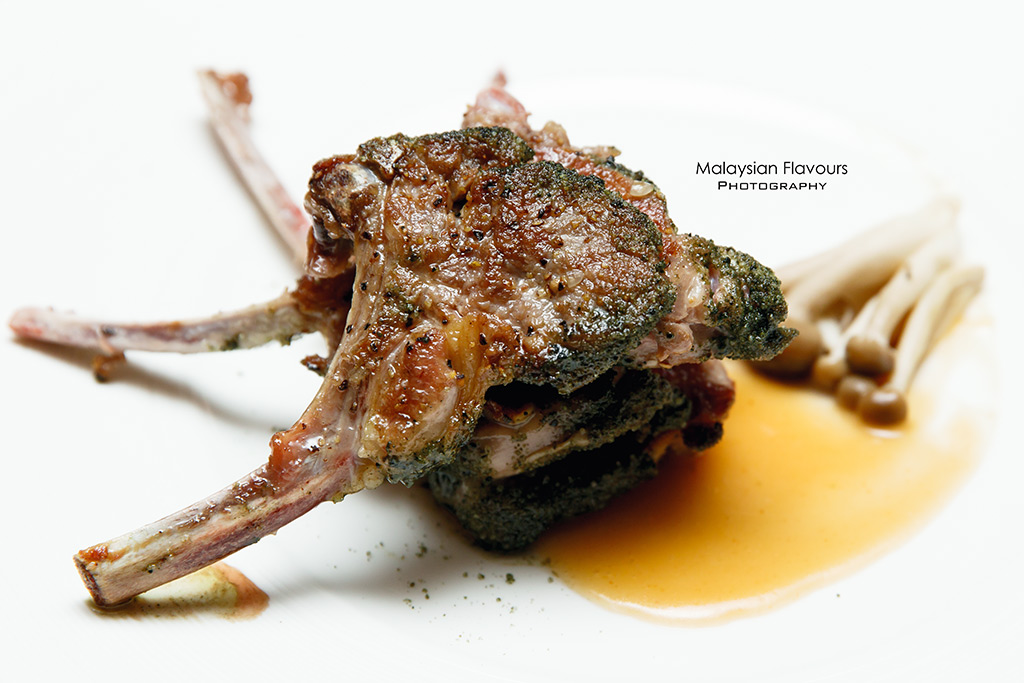 Green Tea Salt Crusted Lamb Chop