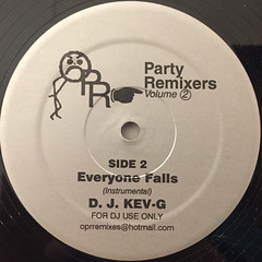 D.J. KEV-G:PARTY REMIXES VOLUME 2 EVERYONE FALLS(LABEL SIDE-B)