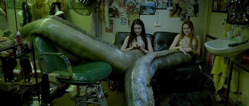 Marta Mazurek and Michalina Olszanska keep things weird in THE LURE.