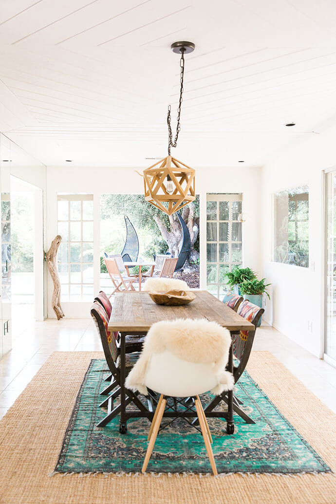 Serene Bohemian Dining Room Decor
