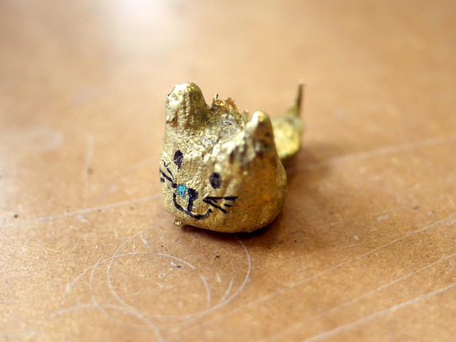 Brass Blob Cat