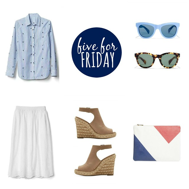 five for friday white cream and blue for spring 2017 | Style On Target blog
