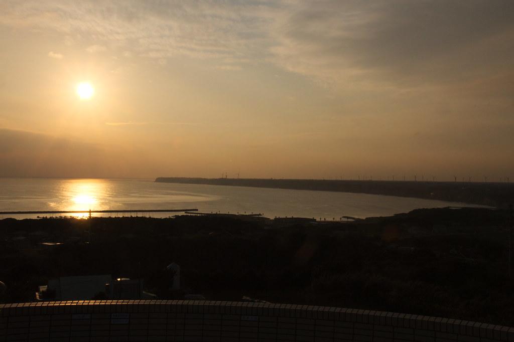 "View from the-earth-looks-round hill ""Chikyu-ga-maru-ku-mieru-oka"