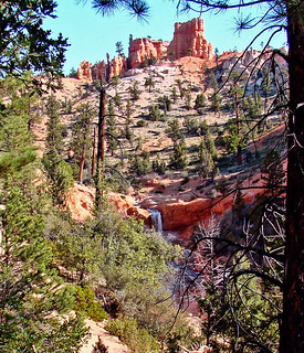 Falls View, Mossy Cave Trail, UT9-09