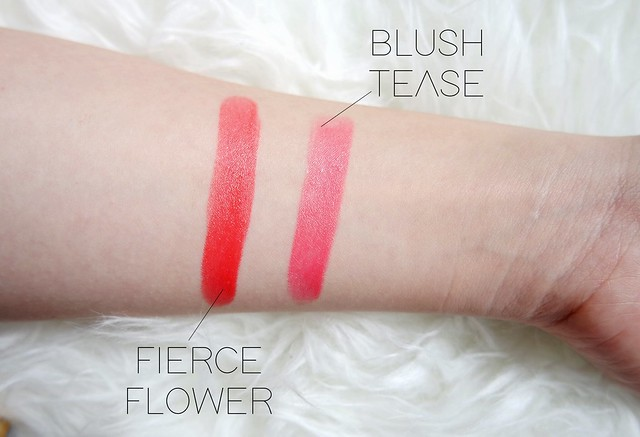 ESTEE LAUDER fierce flower and blush tease lip shades