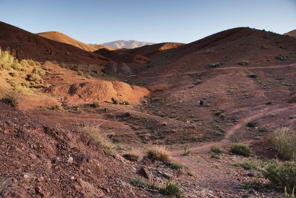Les magnifiques Gorges de Dades au lever du soleil avec les différents tons d'ocres.
