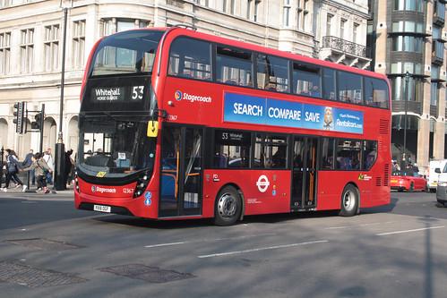 Stagecoach London 12367 YX16OGF