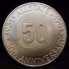 1981 Allstate 50th Anniversary Token obverse