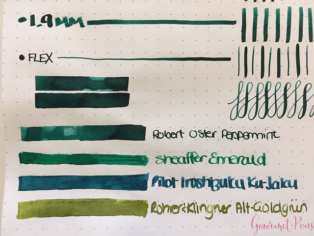 Ink Shot Review: @RobertOsterInk Peppermint @NoteMakerTweets 4