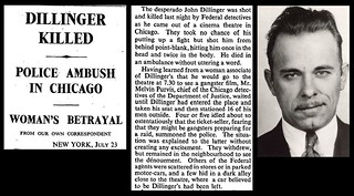 22nd July 1934 - John Dillinger shot by police in Chicago | by Bradford Timeline