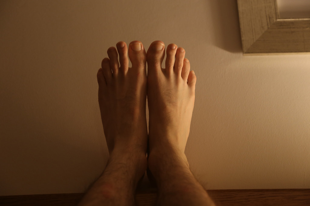 Hot naked boy feet